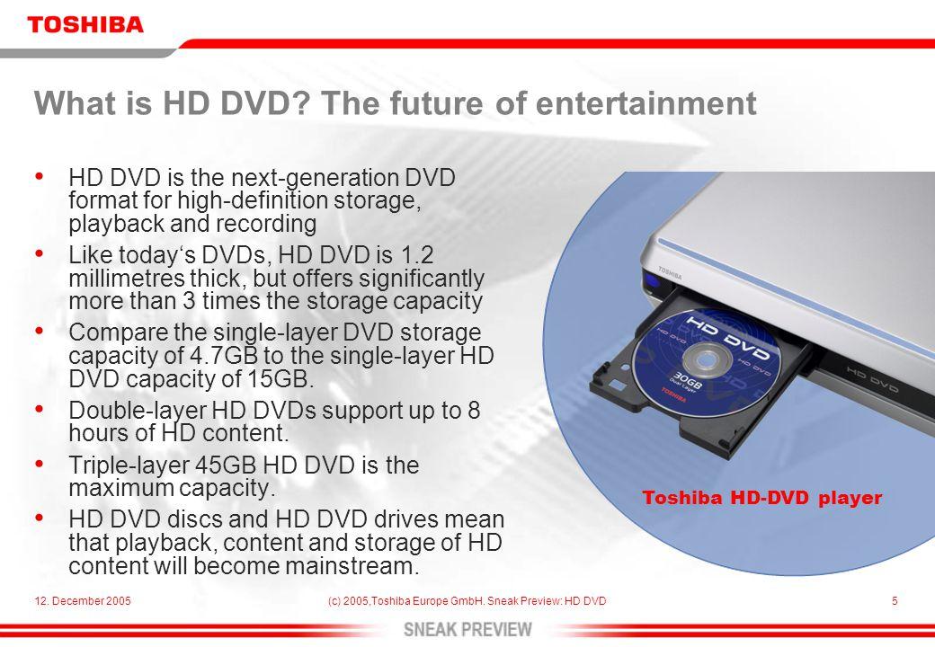 12.December 2005(c) 2005,Toshiba Europe GmbH.