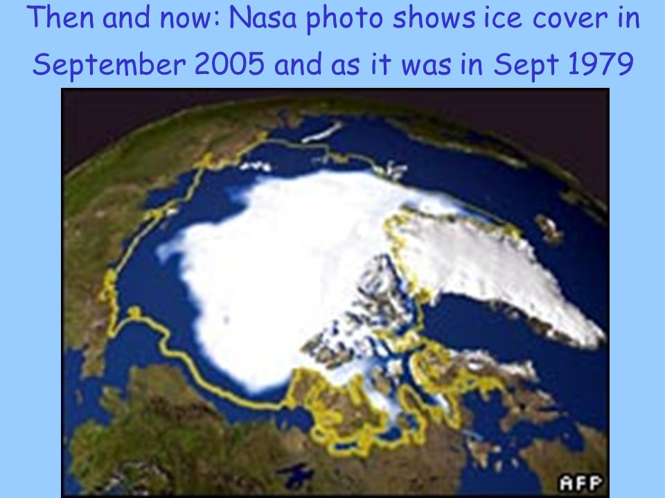 Then and now: Nasa photo shows ice cover in September 2005 and as it was in Sept 1979