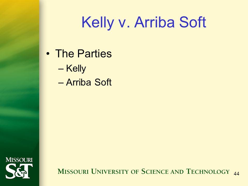 44 Kelly v. Arriba Soft The Parties –Kelly –Arriba Soft