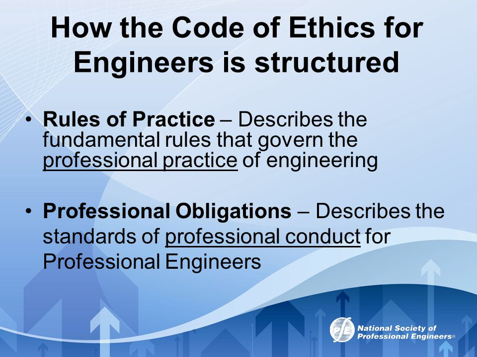 More Recent Changes In recent years, the NSPE Code of Ethics has been translated into German, French and Spanish.