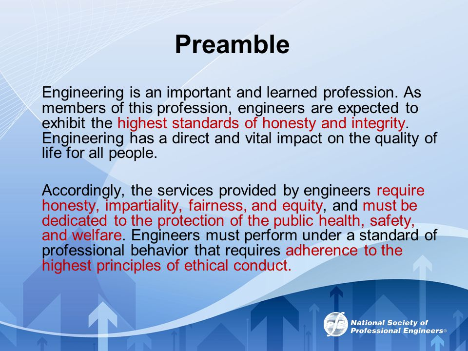 NSPE Board of Ethical Review The engineering profession s emphasis on ethics dates back to the end of the 19th century.
