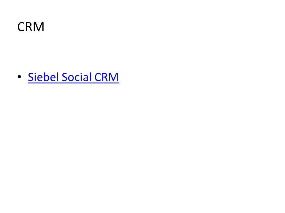 CRM Siebel Social CRM
