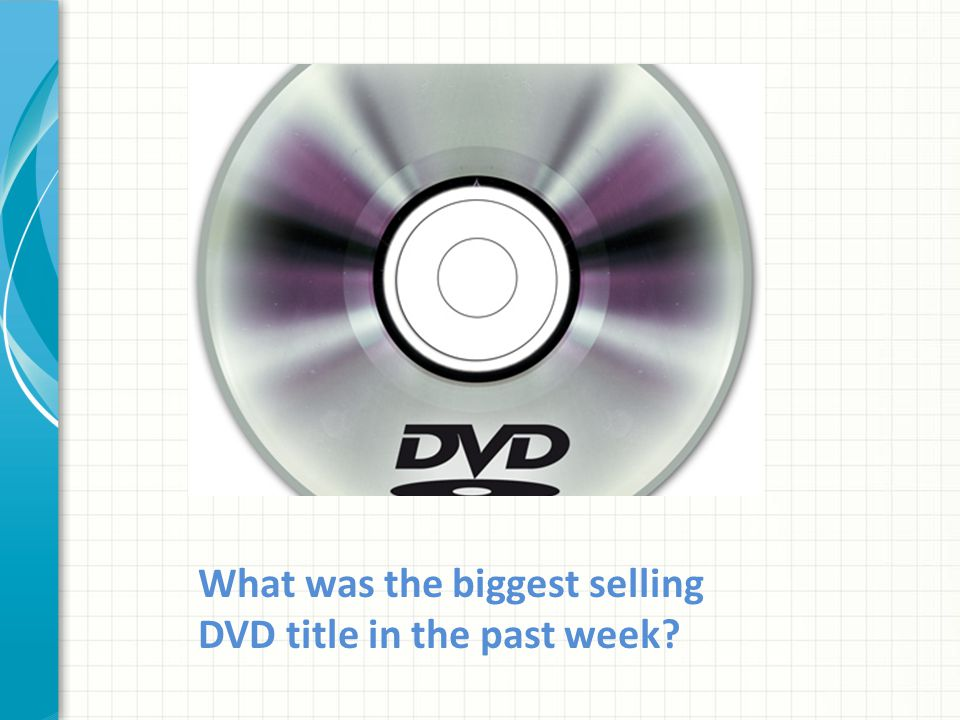 What was the biggest selling DVD title in the past week