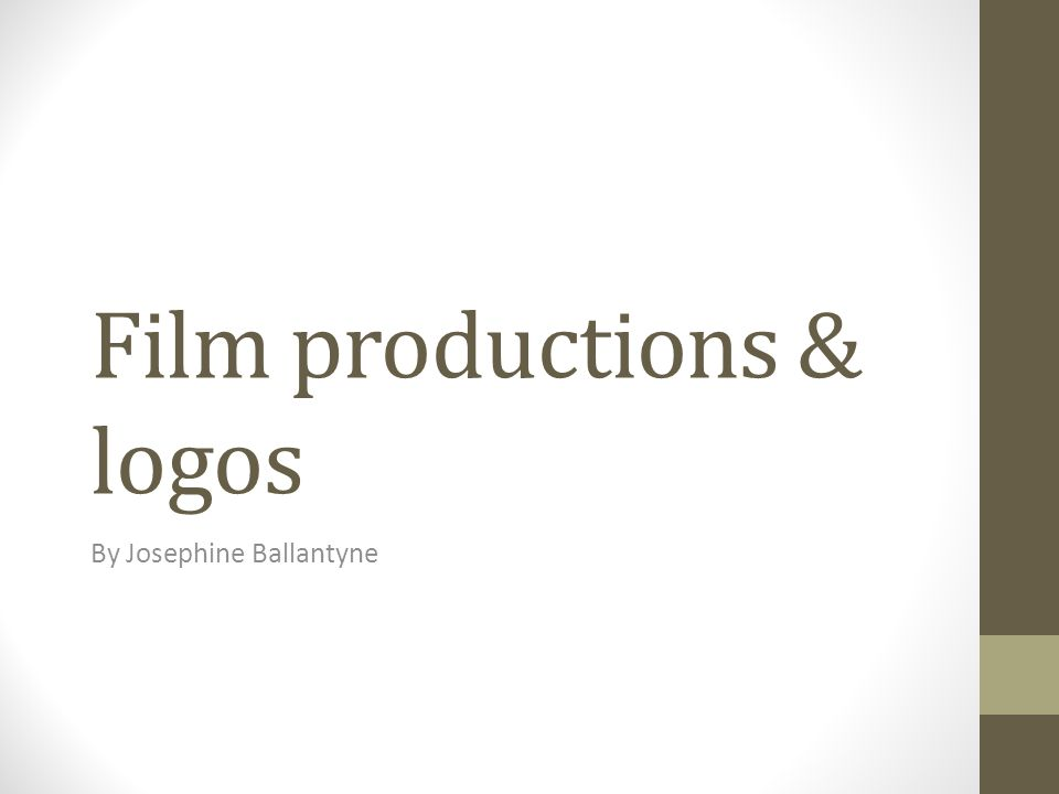 Film productions & logos By Josephine Ballantyne