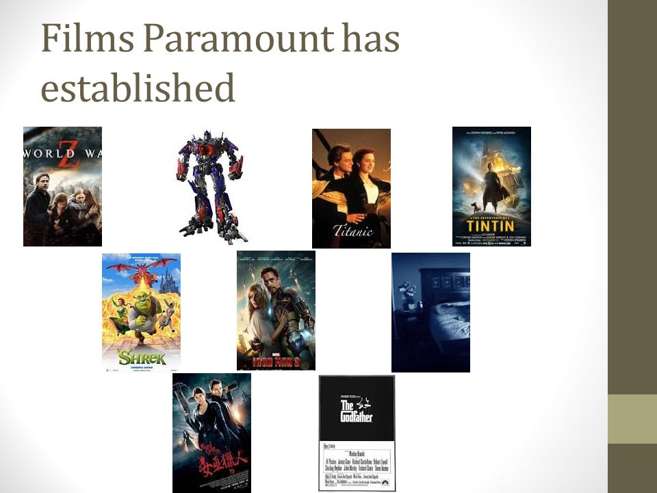 Films Paramount has established