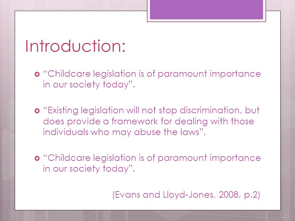 Task:  Working in small groups identify the key aspects of The Children Act 1989 and 2004.