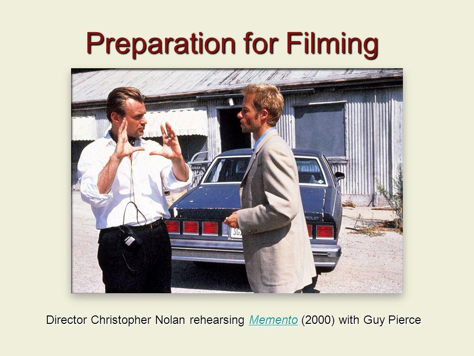 Preparation for Filming Director Christopher Nolan rehearsing Memento (2000) with Guy Pierce Memento