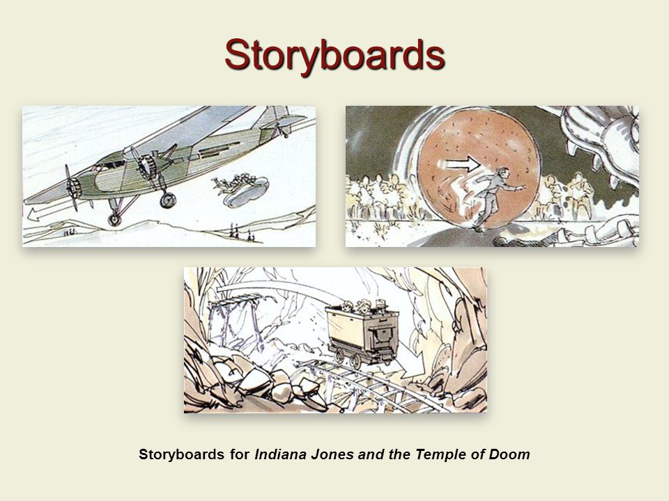 Storyboards Storyboards for Indiana Jones and the Temple of Doom