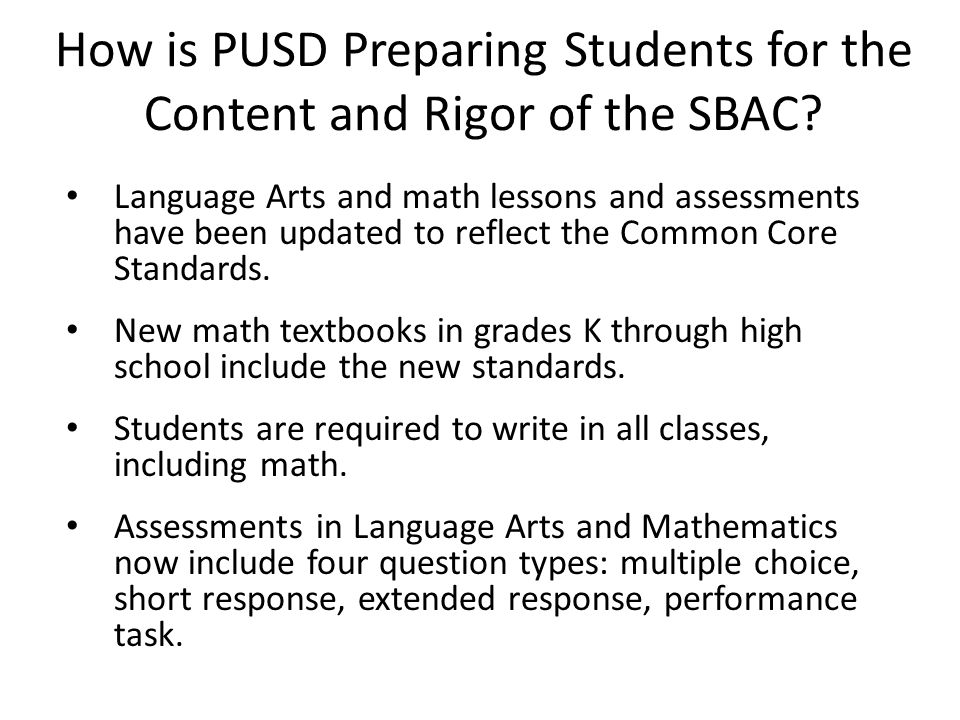 How is PUSD Preparing Students for the Technology Skills on the SBAC.