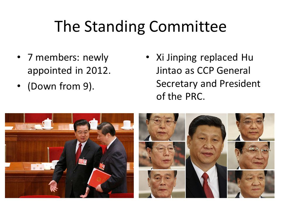 The Standing Committee 7 members: newly appointed in 2012.
