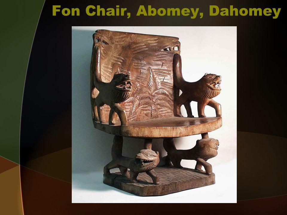 Fon Chair, Abomey, Dahomey