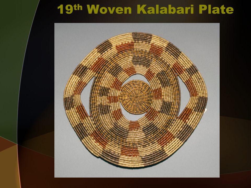 19 th Woven Kalabari Plate