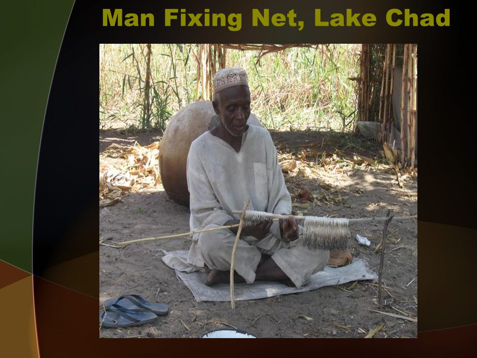 Man Fixing Net, Lake Chad