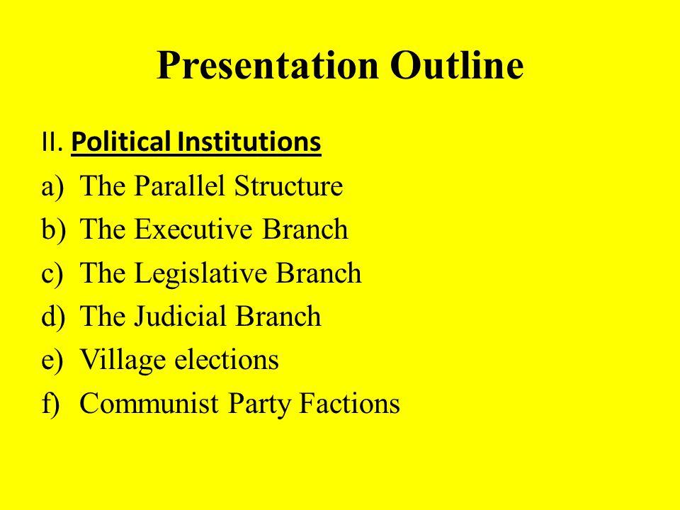 Presentation Outline II.