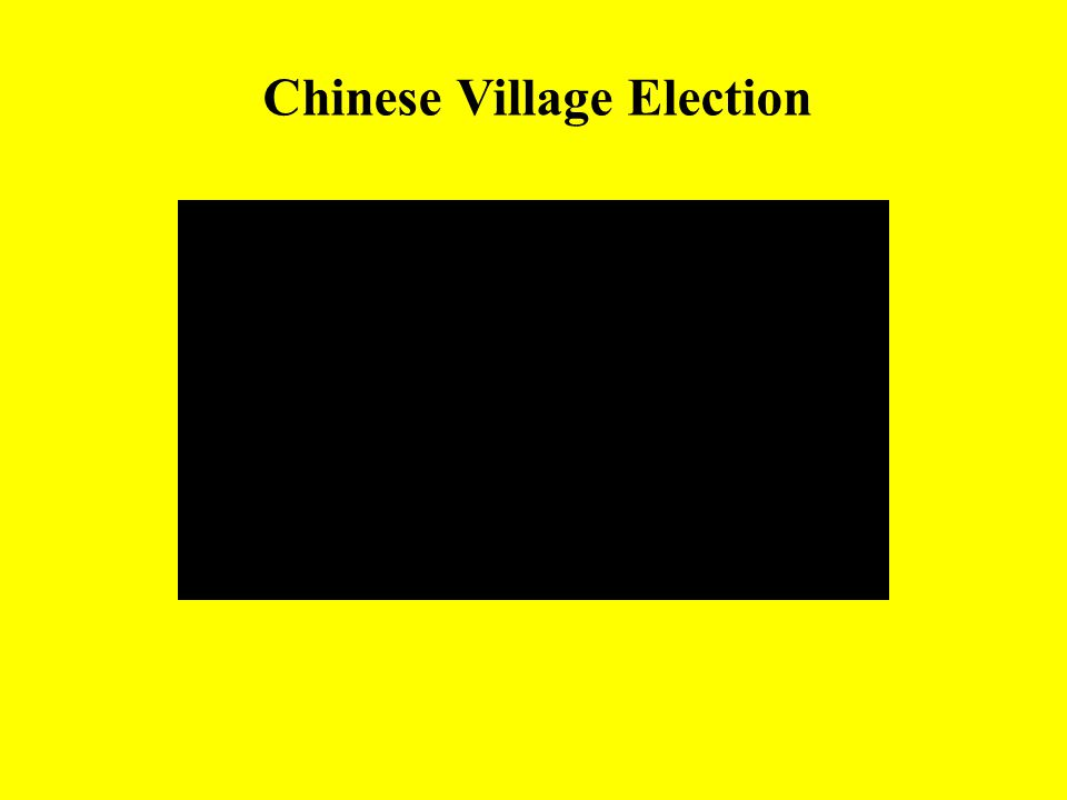 Chinese Village Election