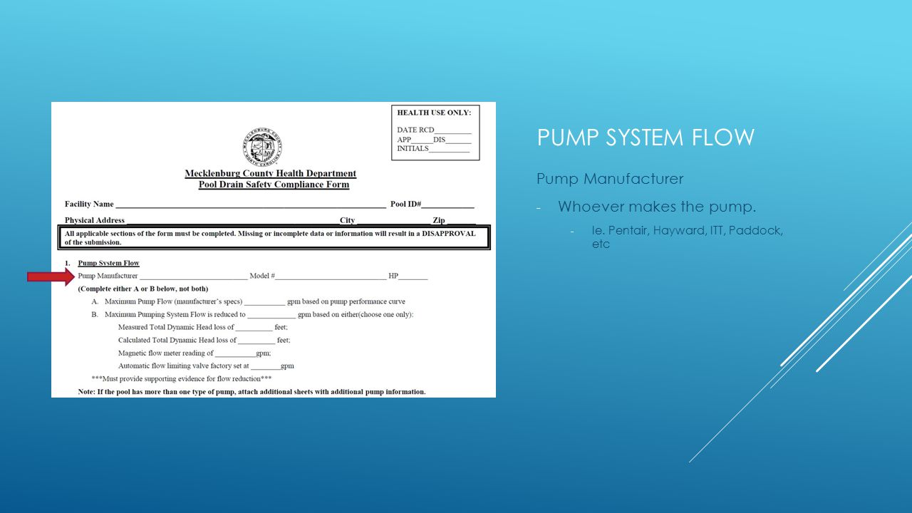 PUMP SYSTEM FLOW Pump Manufacturer - Whoever makes the pump.