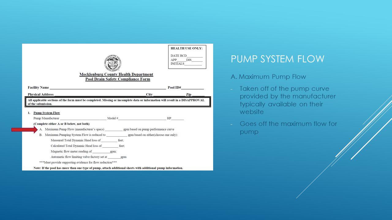 PUMP SYSTEM FLOW A.