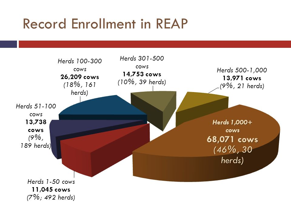 Record Enrollment in REAP