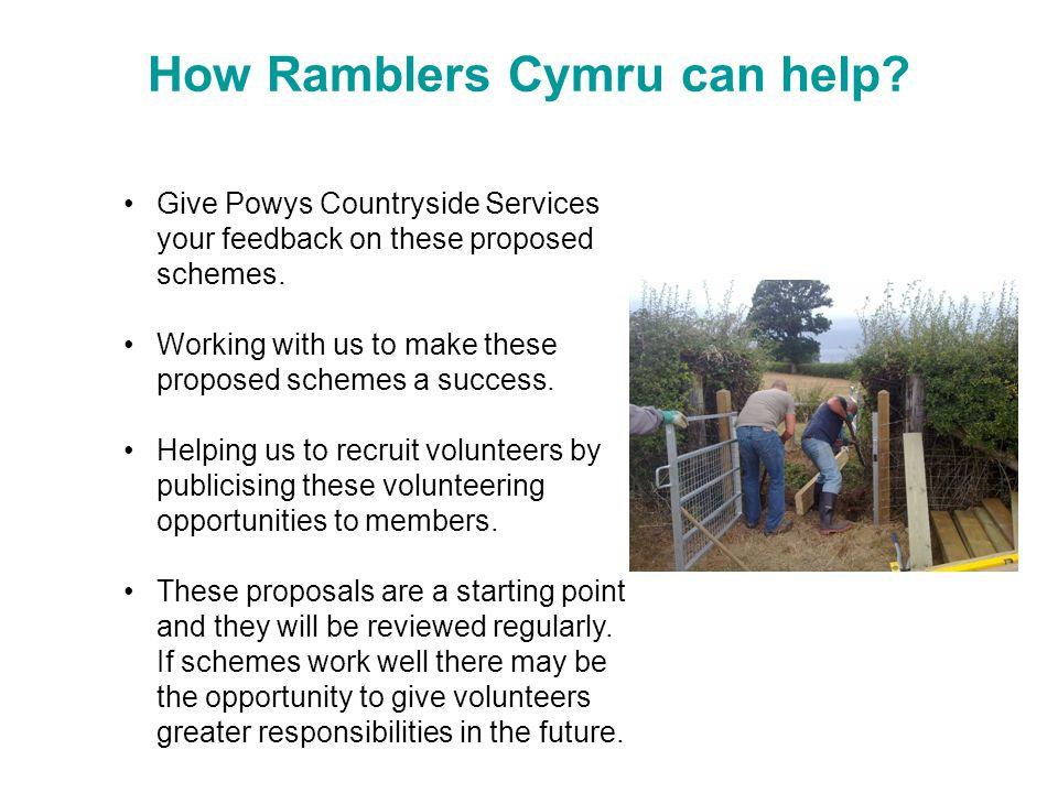 How Ramblers Cymru can help.