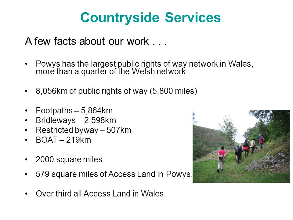 Countryside Services A few facts about our work...