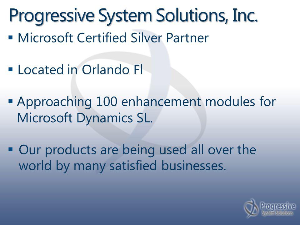 Progressive System Solutions, Inc.