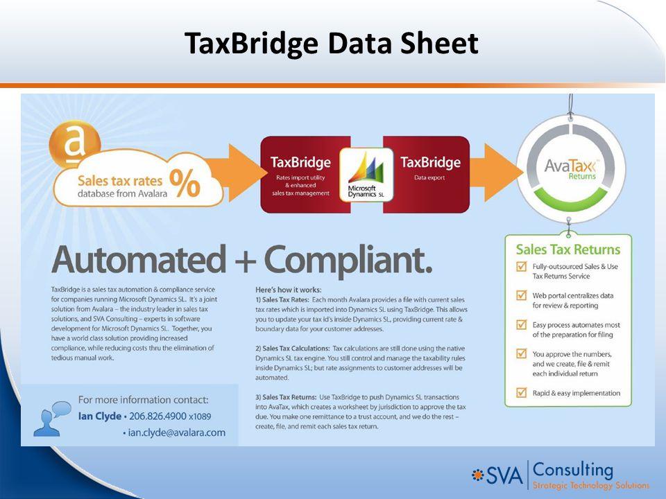 TaxBridge Data Sheet