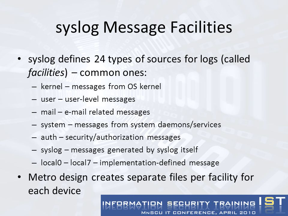 Other Considerations Clock synchronization Log rotation/space utilization Backups Network Monitoring