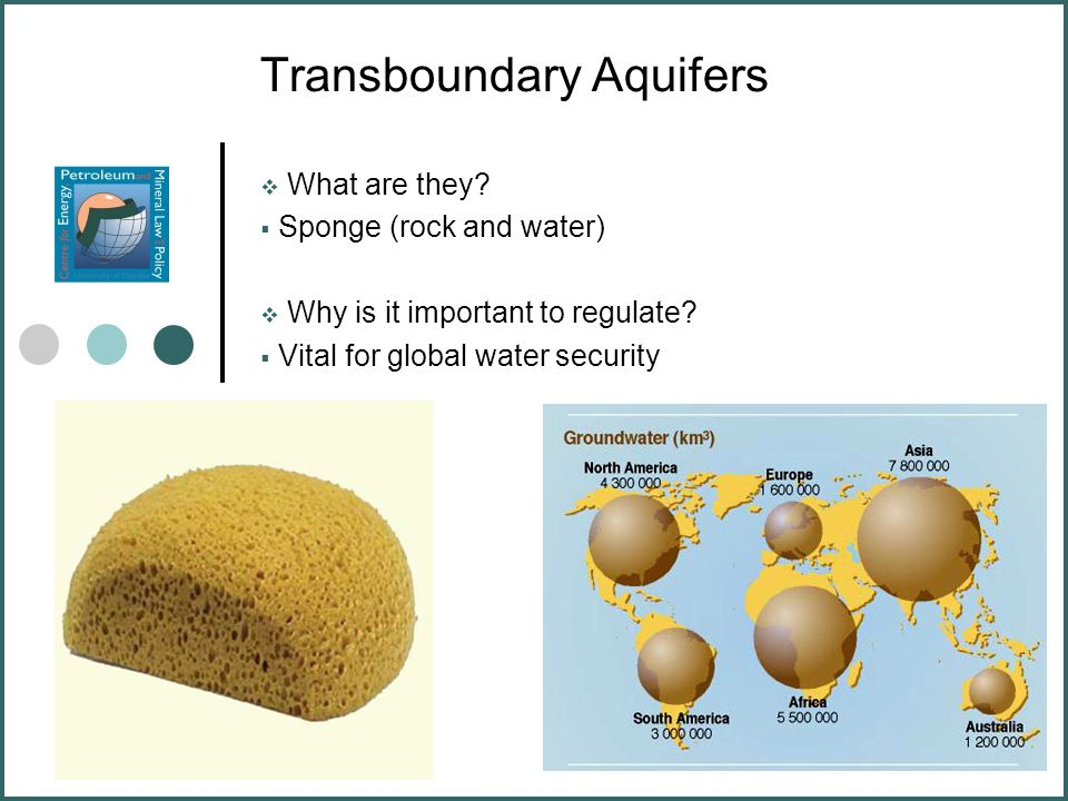 Transboundary Aquifers  What are they.