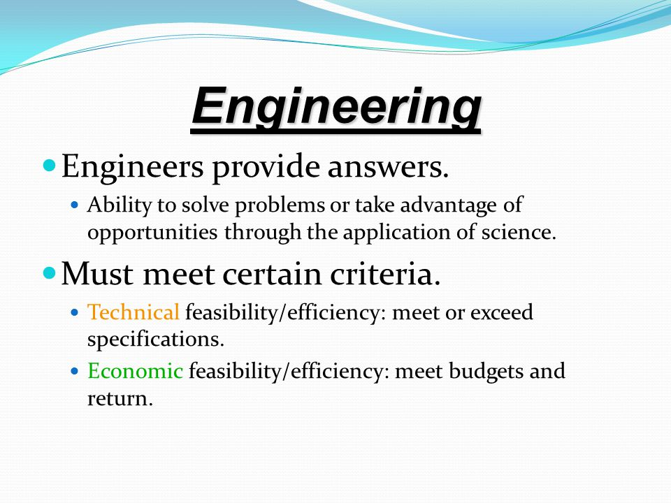 The Role of engineering Economic analysis Engineering economic analysis is most suitable for intermediate problems and economic aspects of complex problem, they have those qualities : 1) the problem is important enough to justify our giving it serious thought and effort.