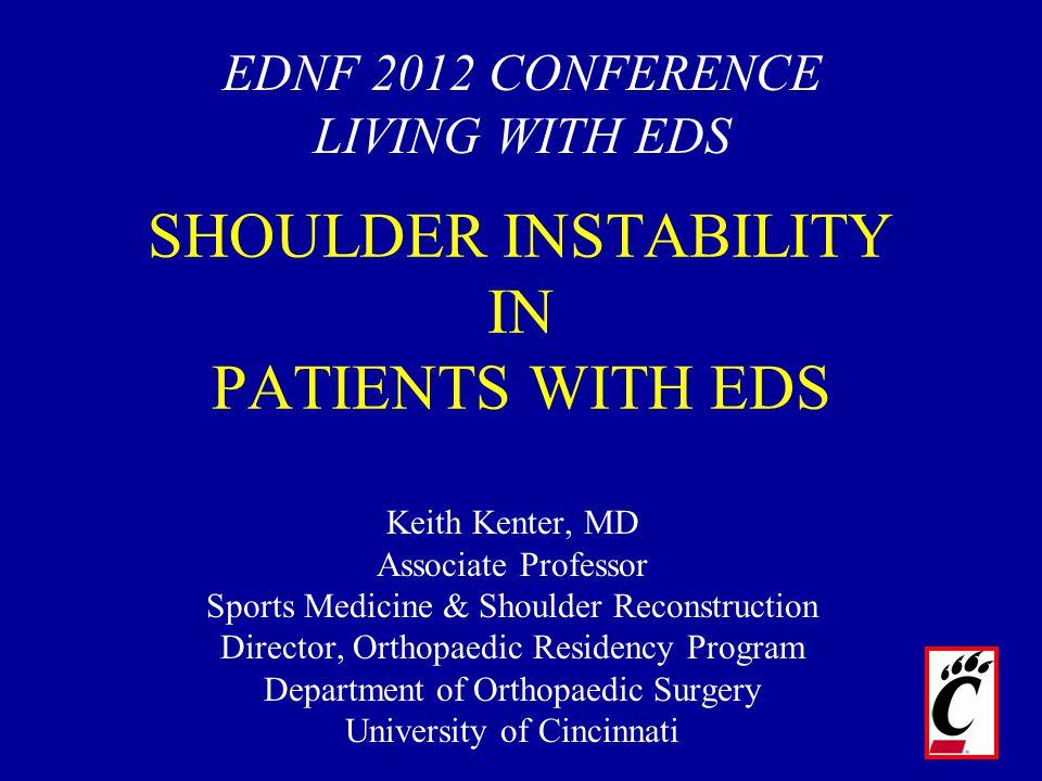 Keith Kenter, MD Associate Professor Sports Medicine & Shoulder Reconstruction Director, Orthopaedic Residency Program Department of Orthopaedic Surge