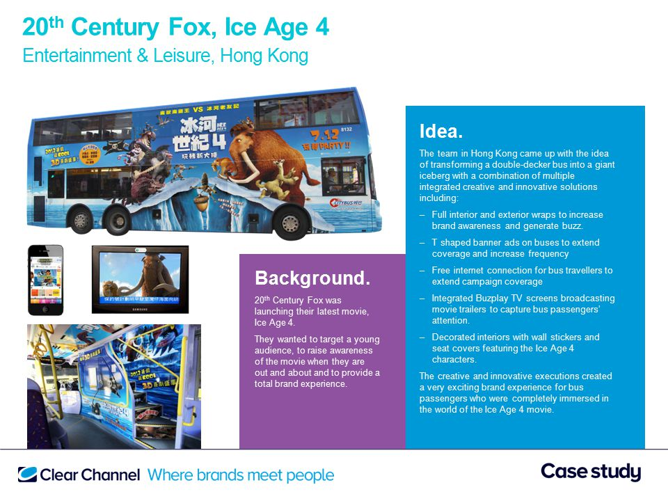 20 th Century Fox, Ice Age 4 Entertainment & Leisure, Hong Kong Background.