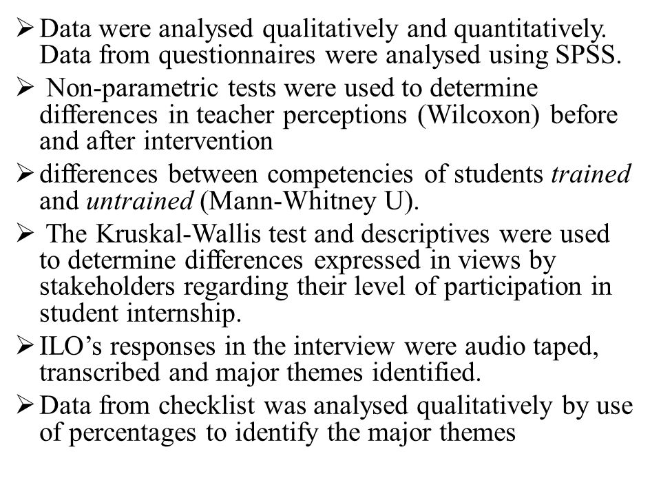  Data were analysed qualitatively and quantitatively.