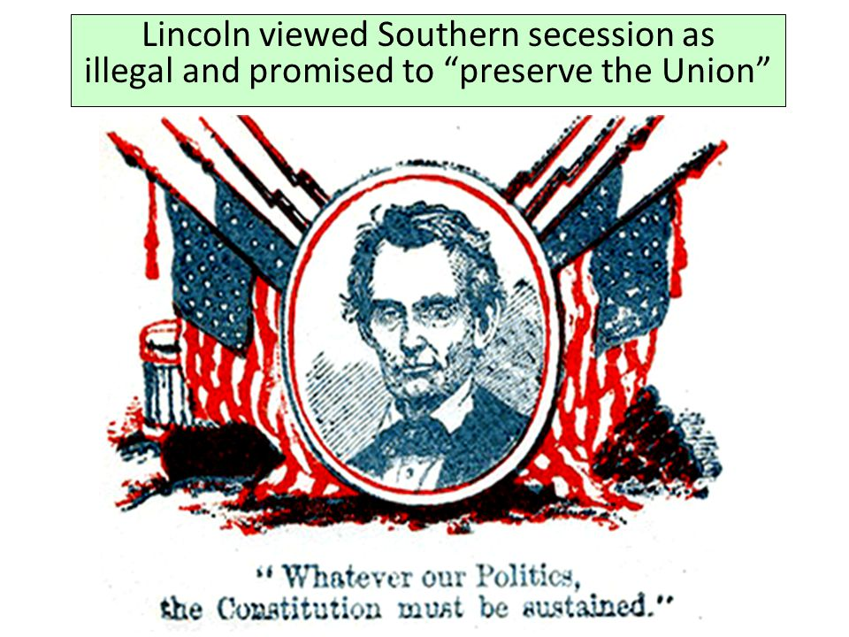 1862 My paramount object in this struggle is to save the Union, and is not either to save or to destroy slavery.