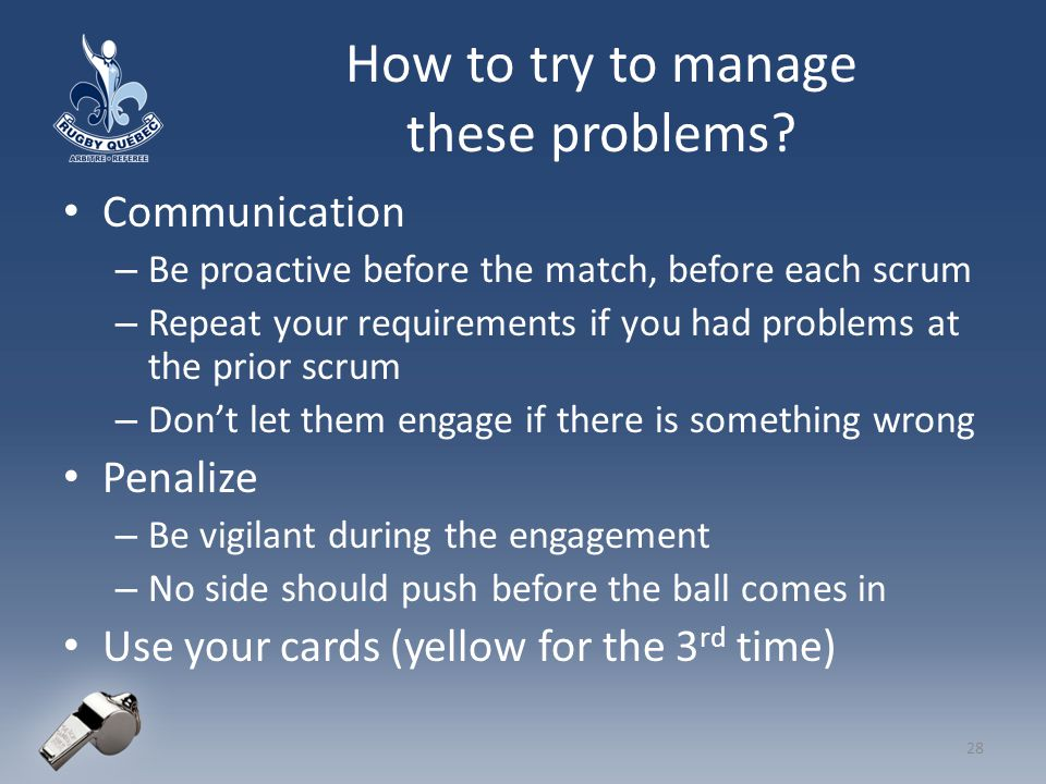 How to try to manage these problems.