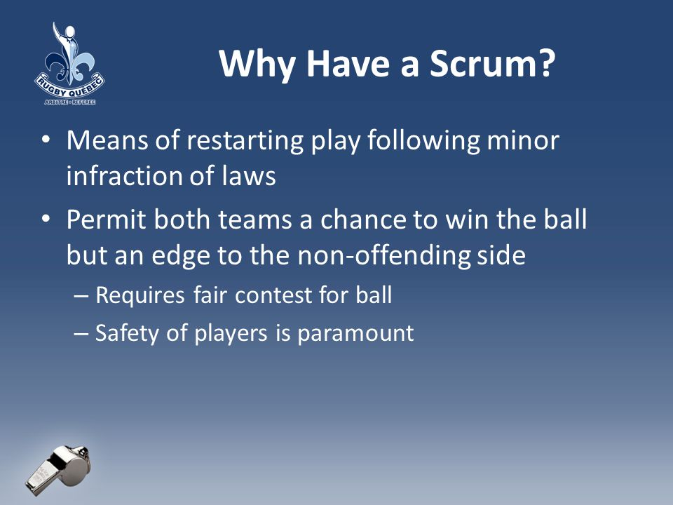 Problems with the Scrum.