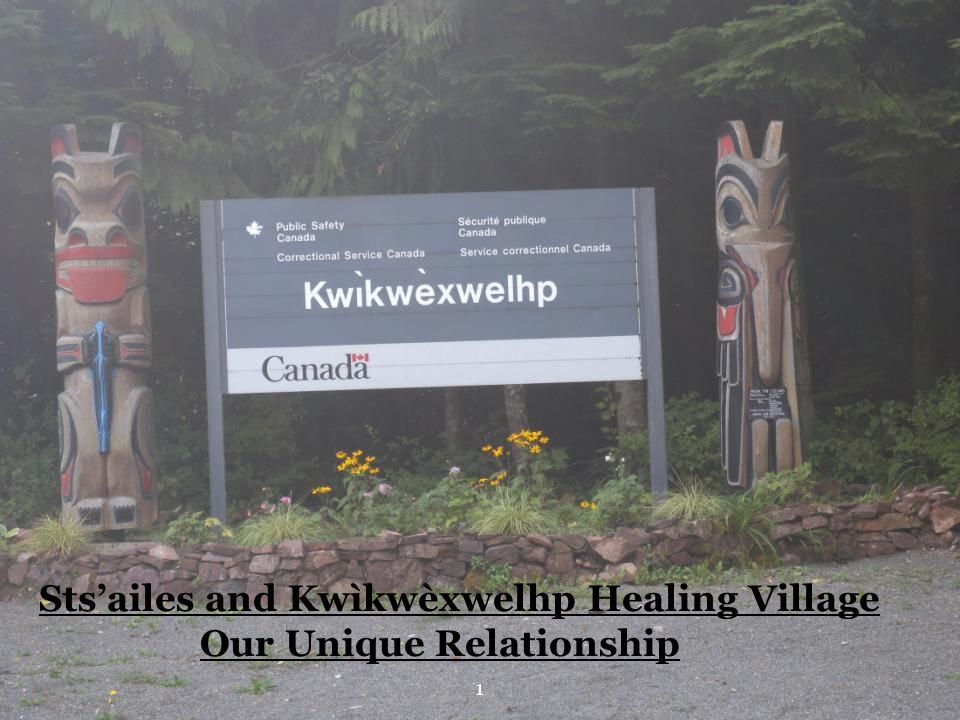 Sts'ailes and Kwìkwèxwelhp Healing Village Our Unique Relationship 1