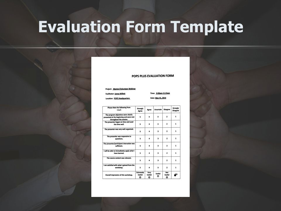 Evaluation Form Template
