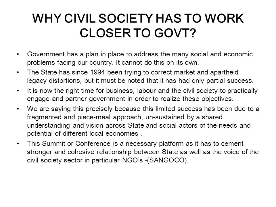 WHO IS CIVIL SOCIETY.