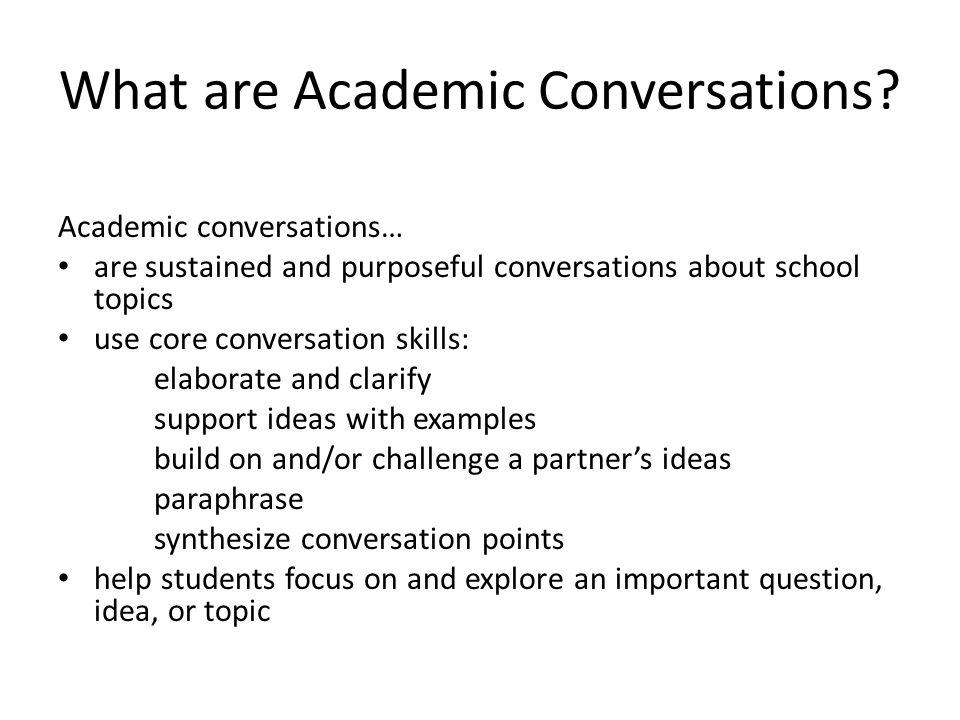 Why Teach Conversation Skills.