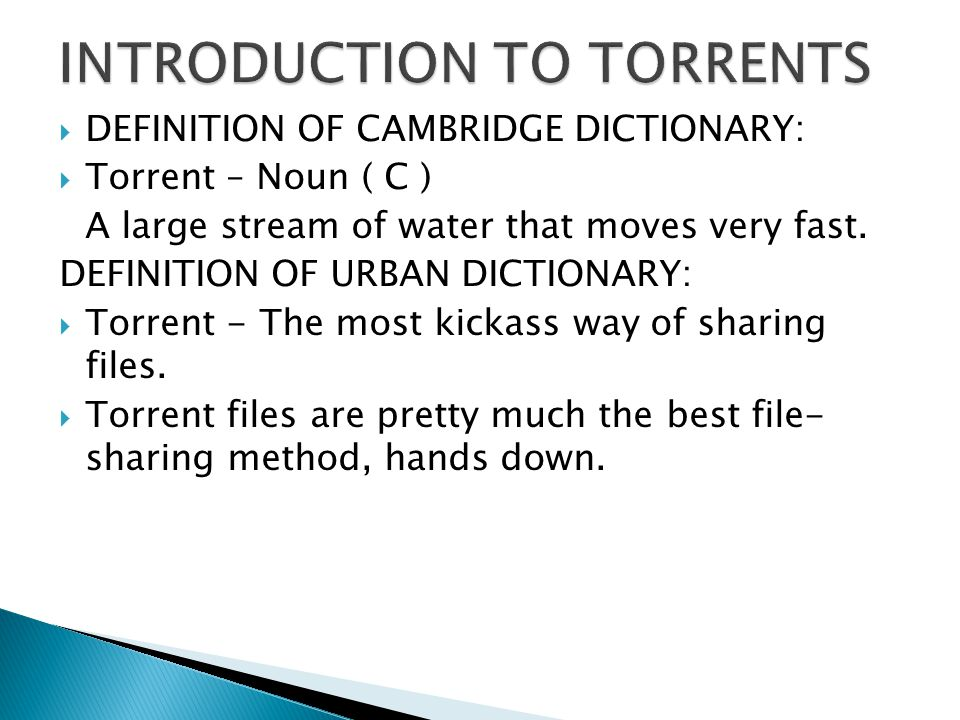 Bit Torrent Entertainment Network  Offers downloads of films and other content.