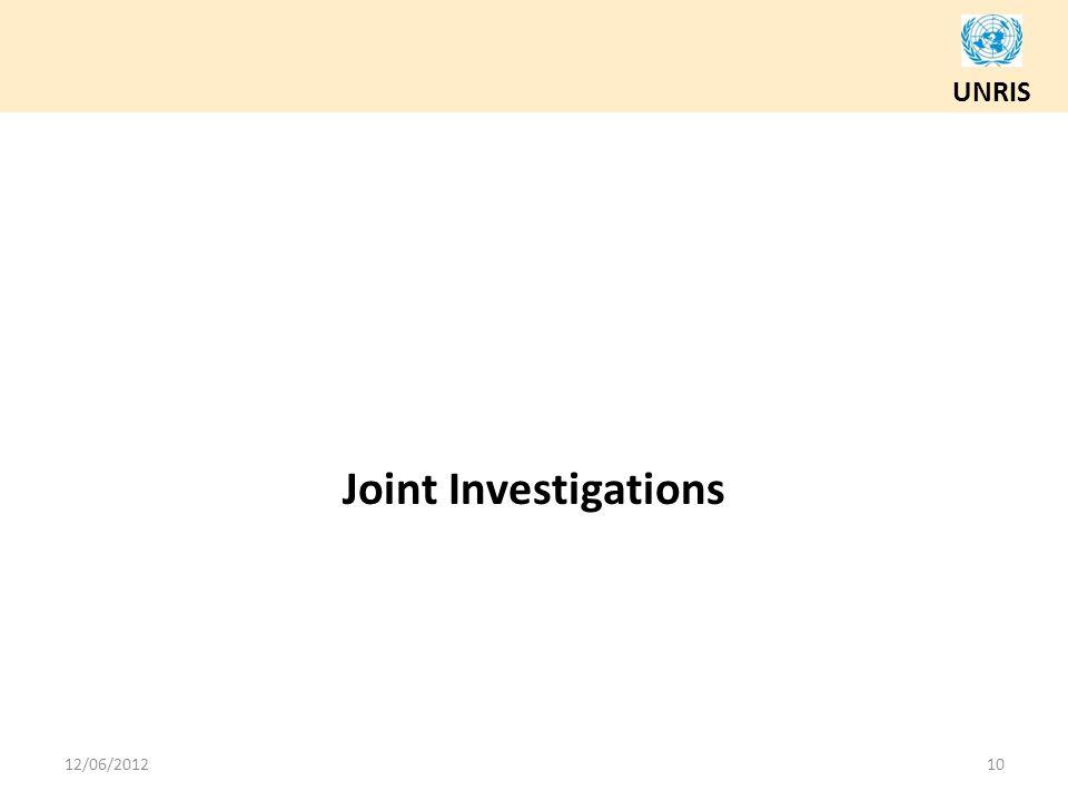 UNRIS Joint Investigations 12/06/201210