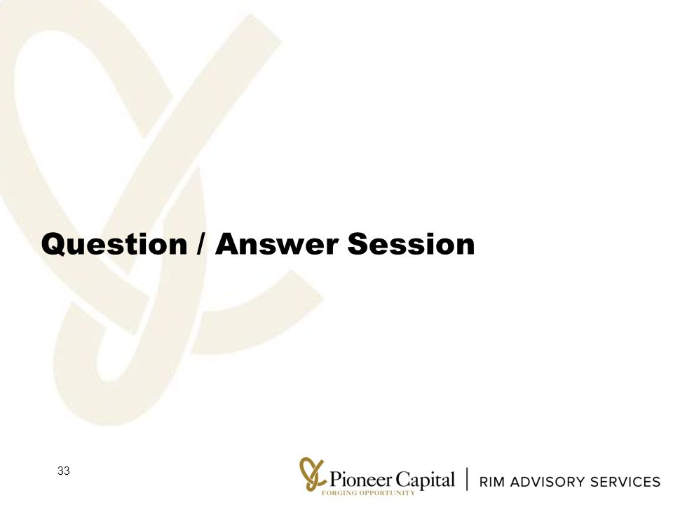 Question / Answer Session 33