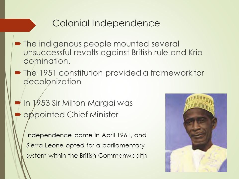 First Coup  In March 1967, the All Peoples Congress (APC) won a plurality of the parliamentary seats.