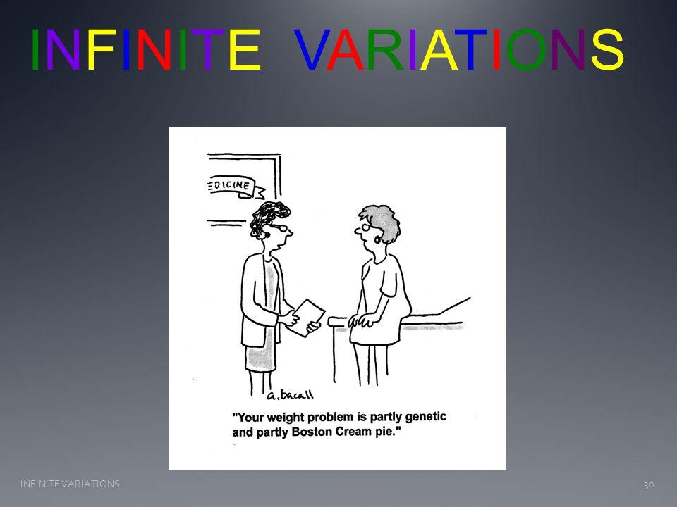 30INFINITE VARIATIONS