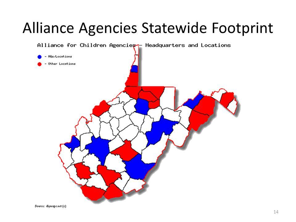 Alliance Agencies Statewide Footprint 14