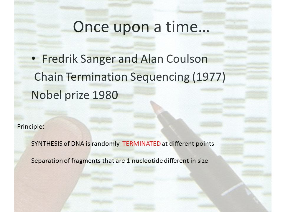 Sanger's sequencing Lack of OH-group at 3' position of deoxyribose .