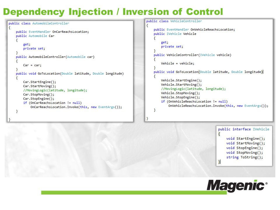 Dependency Injection / Inversion of Control