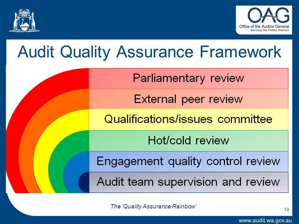 Audit Quality Assurance Framework 19 The 'Quality Assurance Rainbow'