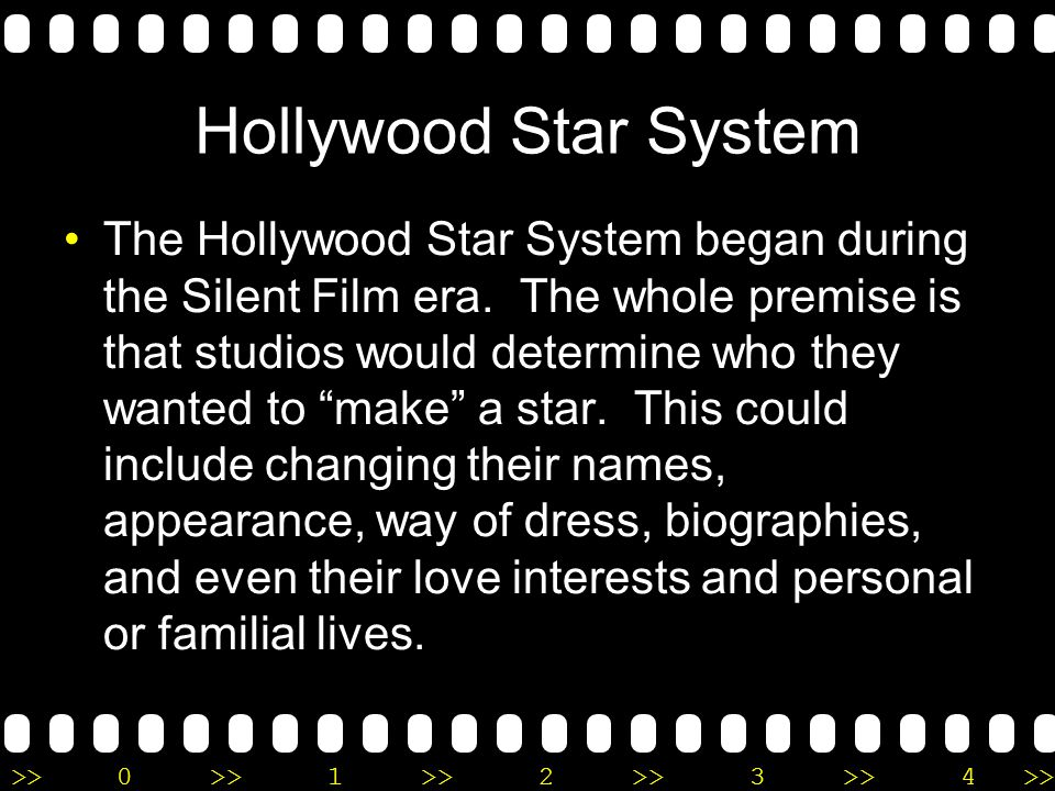 >>0 >>1 >> 2 >> 3 >> 4 >> The Hollywood Star System and Cary Grant Presentation brought to you by Laura McBride