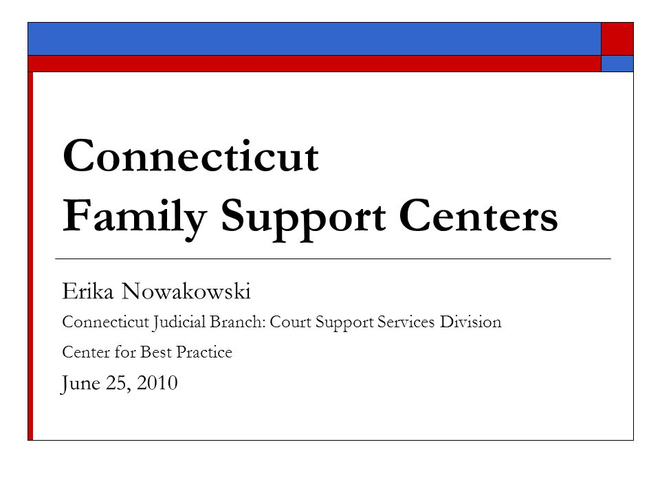 Systems Change for Status Offenders in Connecticut  Connecticut juvenile population  Impetus for Change: legislative background and target population  Family Support Center model Services Screening and Assessment Interventions Implementation process: considerations and challenges  Measuring and monitoring outcomes  Lessons learned